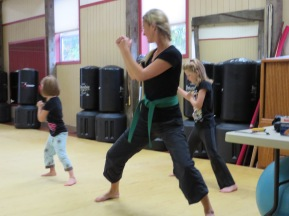 Introducing the Girls to Karate 2013