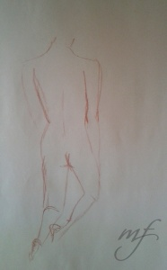 2 min. conte sketch