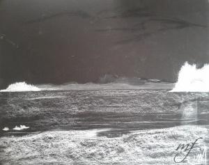 conte on black paper