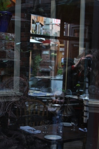 A new appreciation for window reflections - something Lil and art school taught me.